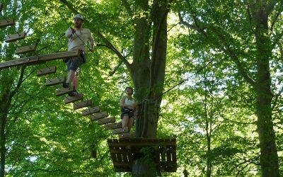 Tag familien med i klatrepark
